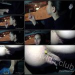 [ScatShop com – YezzClips com] Young Alina smoking and pooping in the car 10
