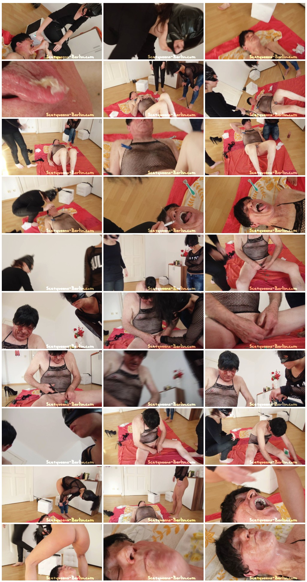 [Scatqueens-Berlin.com - Scat-Ladies.com] Scat Cats and the Scat Bitch P1 [Scat, Piss, Vomit, Spitting, Facesitting, Whipping, Trampling, Femdom, Humiliation, Toilet Slavery]