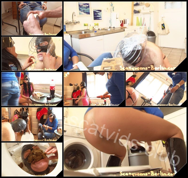 [Scatqueens-Berlin.com - Scat-Ladies.com] Scatsisters and the Scateater Day1 P1 [Scat, Piss, Vomit, Spitting, Facesitting, Whipping, Trampling, Femdom, Humiliation, Toilet Slavery]
