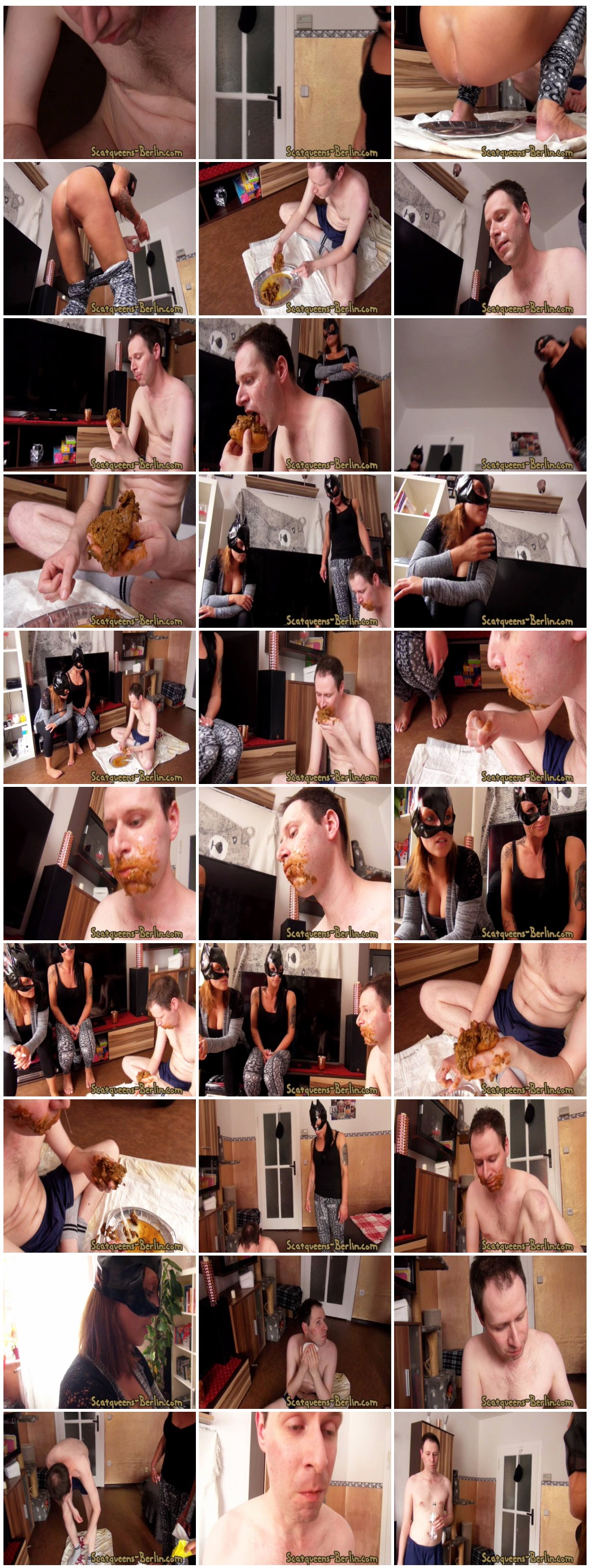 [Scatqueens-Berlin.com - Scat-Ladies.com] The Shit Face P2 [Scat, Piss, Vomit, Spitting, Facesitting, Whipping, Trampling, Femdom, Humiliation, Toilet Slavery]