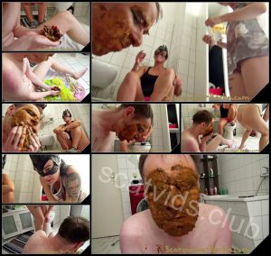 [Scatqueens-Berlin com – Scat-Ladies com] The Shit Mask P3 [Scat, Piss, Vomit, Spitting, Facesitting, Whipping, Trampling, Femdom, Humiliation, Toilet Slavery]