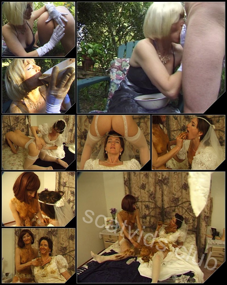 [Hightide-Video.com] PRETTY LISA - BROWN WEDDING NIGHT [Scat, Piss, Human Toilet, Humiliation, Fetish, Toys, Lesbians, Group]