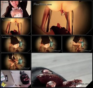 [PooAlina com – ScatShop com] Alina bombs the mouth of the toilet slave with pieces of hard shit [2017, Scat, Piss, Vomit, Teen, Smoking, Toilet Slavery]