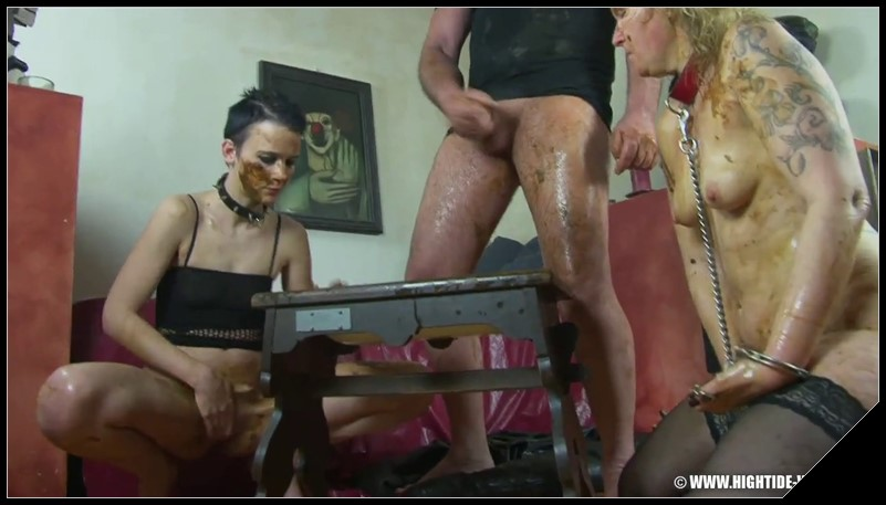 [Hightide-Video.com] BETTY and FRIENDS - SERVING WITH A SMILE  [ Scat, Pissing, Lesbian, Fisting, Human Toilet, Vomit, Masturbation, Humiliation, All Sex, Group]