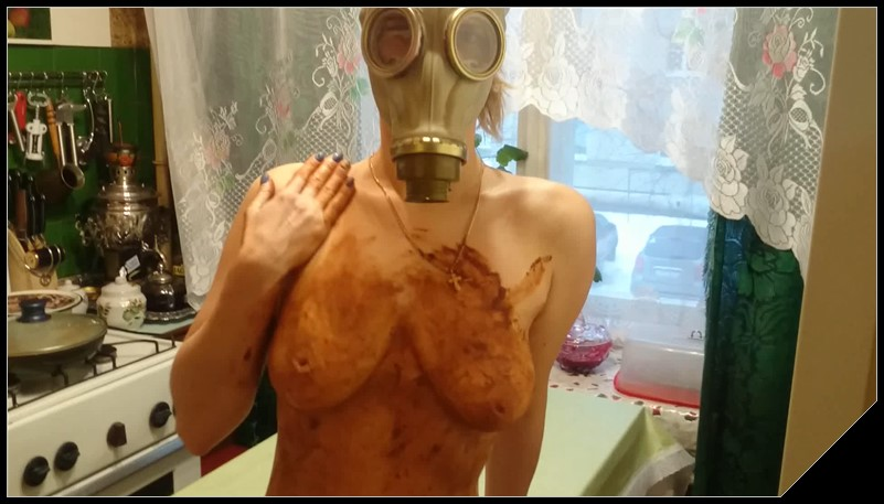 Smearing shit in a gas mask Brown wife Poop Videos Smearing Couples cover - Smearing shit in a gas mask- Brown wife [Poop Videos, Smearing, Couples]