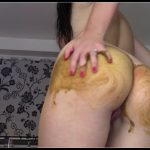 EvaMarie88  - British Solo Scat , Period Play Bonus Cum, pee and poo in dress [2]