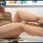 Nastygirl Pooping and Smearing Poo With Foot