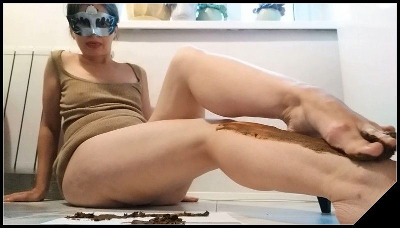 Nastygirl Pooping and Smearing Poo With Foot cover - Nastygirl Pooping and Smearing Poo With Foot