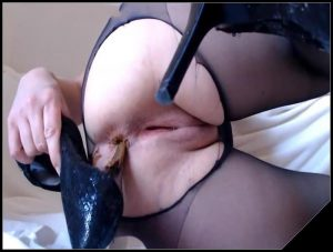 Black Pantyhose [Scat,pissing,shit,defecation,masturbation,eat shit]