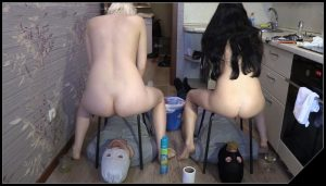 2 Slaves Vs 2 Mistresses  Sports Competitions [Scat, pissing, shit, defecation, Smearing , Femdom ,Toilet Slavery,  Domination, Eat shit , Humiliations]