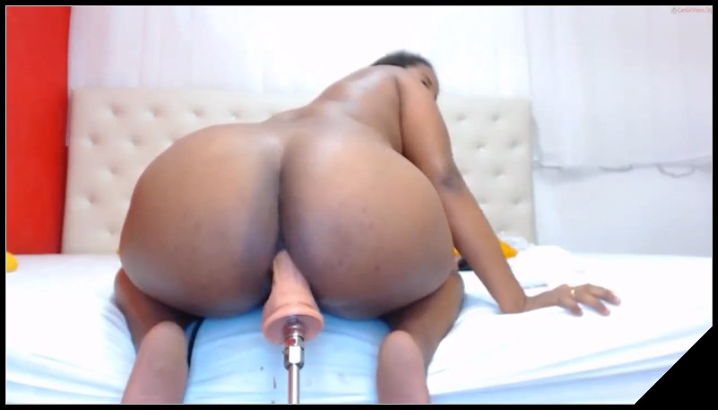 Ebony Car Solo Masturbation