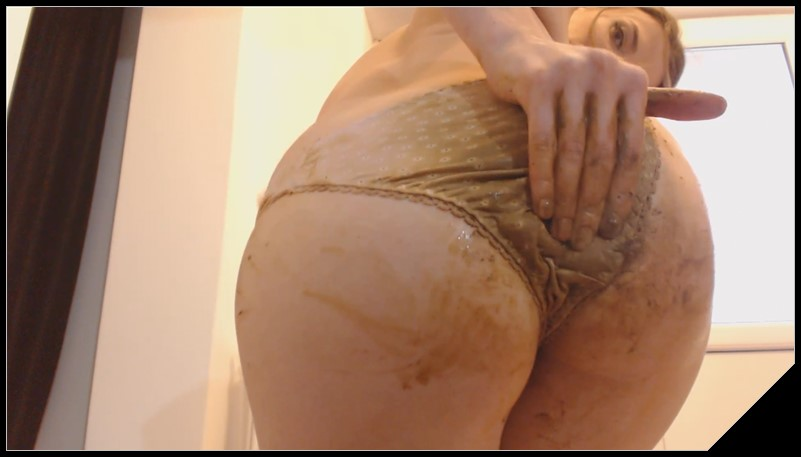 Dianaspark - Pooping My Panties [Scat solo, shit, defecation, Pissing, Shitty ass, Masturbation, Panty pooping, Big Shit, Smearing]