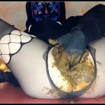 Masked Up Scat Slut - [Scat solo, shit, defecation, Big Shit, Pissing, Shitty ass, Smearing]