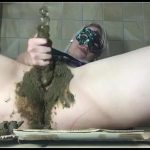 Shitting and ass stuffing – [Scat solo, shit, defecation, Big Shit, Dirty Ass, Smearing , Dildo masturbation]