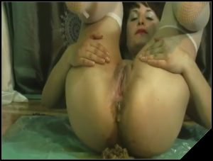 She only shit once a week. Very nice foreplay- [Scat solo, shit,  Pissing,  Dirty Ass]