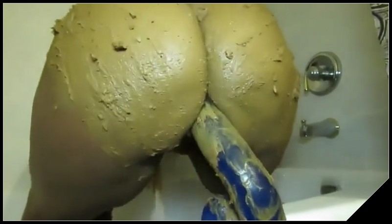 Shitty Anal Toying Scat solo shit defecation Smearing Dildo masturbation cover - Shitty Anal Toying -[Scat solo, shit,  Smearing, Dildo masturbation]