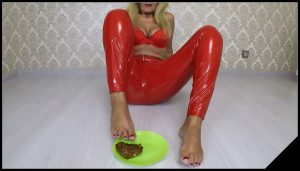 Angelica Scat – Latex Shit Feet Smear [Scat solo, shit, defecation, Dirty anal, Masturbation, Big Shit, Smearing]