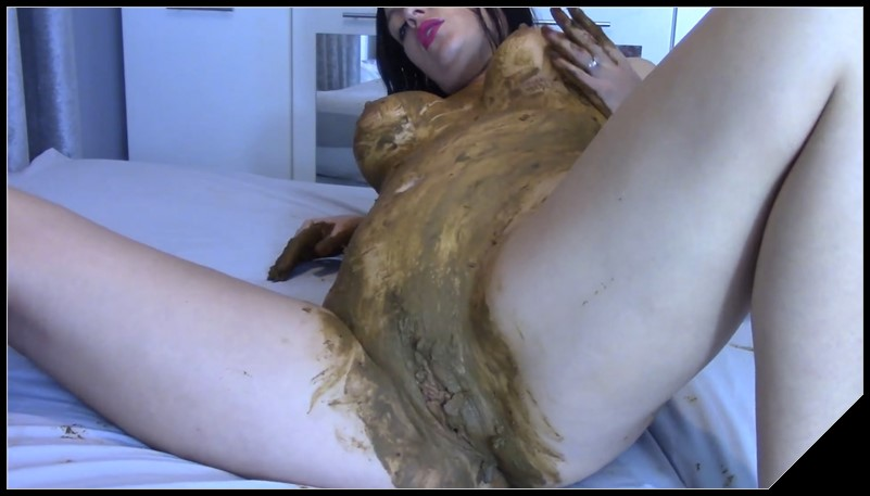 EvaMarie88 - Panties And Pussy Stuffed With Shit [Scat solo, shit, defecation,  Masturbation, Panty pooping, Dirty Ass, Smearing, Pissing]