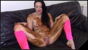 EvaMarie88 – Poo, Fart On Sofa And Get Messy [Scat solo, shit, defecation,  Smearing, Dirty Ass, Masturbation]