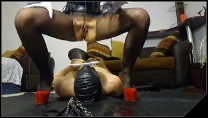 Pooping and peeing on my slave [Scat, pissing, shit, defecation , Femdom ,Toilet Slavery,Fingering, Drink pee, Domination, Eat shit ]