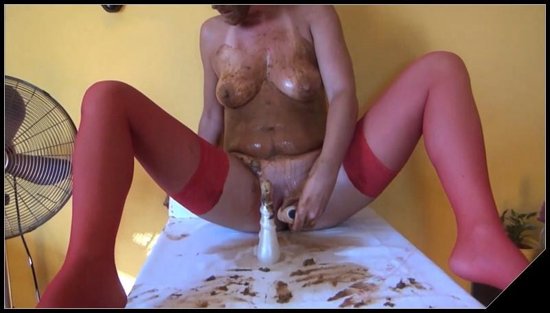 DirtyScatGirl - Potty [Scat solo, shit, defecation, Pissing, Big Shit, Dirty Ass, Masturbation, Dildo masturbation,Smearing,shit in mouth,Fisting, Eat shit, Drink pee, Shit pampers]