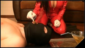 Mi slave is taste a nice caviar and drink mi champagne [Scat, pissing, shit, defecation, Femdom ,Toilet Slavery ,Fingering,Domination, Eat shit ]