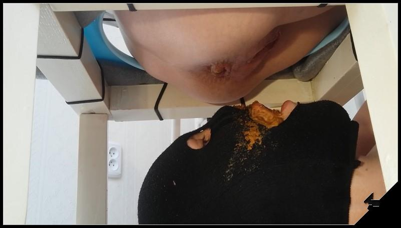 A living female toilet swallowing shit. Close up Scat pissing shit defecation Femdom Toilet SlaveryFace shitFingeringDomination Eat shit cover - A living female toilet, swallowing shit. Close-up [Scat, pissing, shit, defecation, Femdom ,Toilet Slavery,Domination, Eat shit]