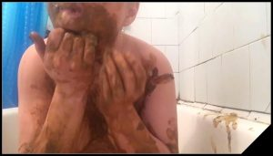 Be dirty toilet bitche is enjoyment [Scat Lesbians, shit,  Smearing,Licking,Domination, Eat shit]