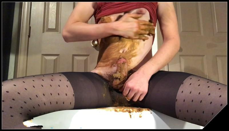 Pantyhose Poop Smearing and Cum 1 Scat solo shit defecation Masturbation Dirty Pantyhose Big ShitDirty Ass Smearing Fingering cover - Pantyhose Poop, Smearing, and Cum 1 [Scat solo, shit, defecation, Masturbation, Dirty Pantyhose,  Smearing, Fingering]