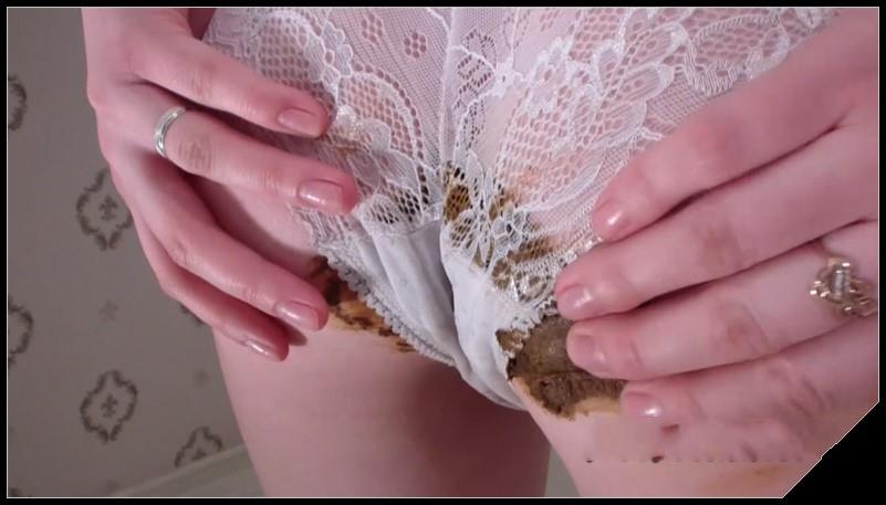 Milana pooping in panties and smeared the body with shit Scat solo shit defecation Masturbation Panty pooping Big ShitDirty Ass Smearing Pissing cover - Milana pooping in panties and smeared the body with shit [Scat solo, shit, defecation, Masturbation, Panty pooping,  Smearing, Pissing]
