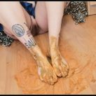 Badkithy - Feet Smeared on My Poop Dirty [Scat solo, shit, defecation, Pissing, Big Shit, Dirty Ass, Masturbation, Smearing]
