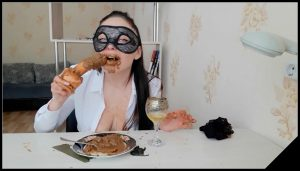 ScatLina – The Day Of Shitty Secretary  Lunch  Part 2 [Scat solo, shit, defecation, Pissing, Big Shit, Dirty Ass, Masturbation, Smearing,shit eating,Dildos,piss drinking]