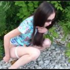 Summe  Alina walks and powerfully farts and shitting [Scat solo, shit, defecation, Pissing, Big Shit, Shitty Ass]